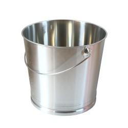 seau inox 22 litres pour toilettes sèches. seau en acier inoxydable avec base