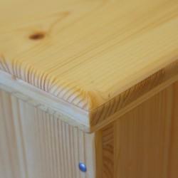 Bac à copeaux de bois avec couvercle pour toilette sèche - modèle huilé spécialement adapté pour la gamme inox rehaussée