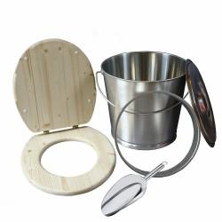 Kit inox pour fabrication toilette sèche,  idéal pour auto-constructeur