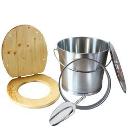 Kit inox huilé pour fabrication toilette sèche,  idéal pour auto-constructeur