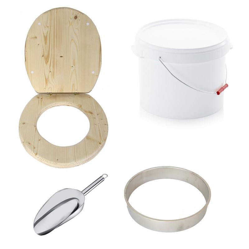 Kit complet fabrication toilette sèche auto-constructeur. kit 22L plastique brut