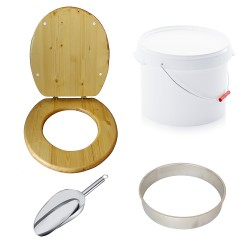 Kit complet plastique 22 L huilé fabrication toilette sèche auto-constructeur