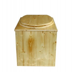 toilette sèche huilée pas cher complète avec seau et bavette inox
