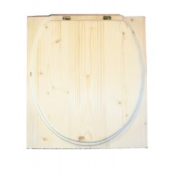 toilette sèche en bois rehaussé - la cube complète