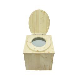 toilette sèche en bois premier prix - la cube complète