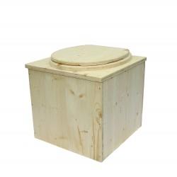 toilette sèche en bois pas chère - la cube complète