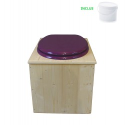 Toilette sèche - La violet prune