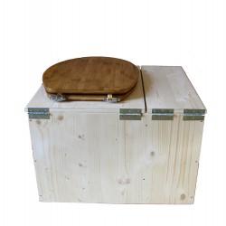 Toilette sèche avec bac à copeaux de bois - La Bac Bambou