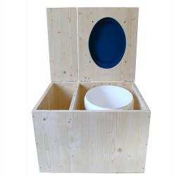 Toilette sèche avec bac à copeaux de bois - La Bac bleu nuit