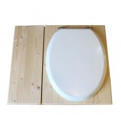 toilette sèche avec bac à copeaux de bois - la bac blanche