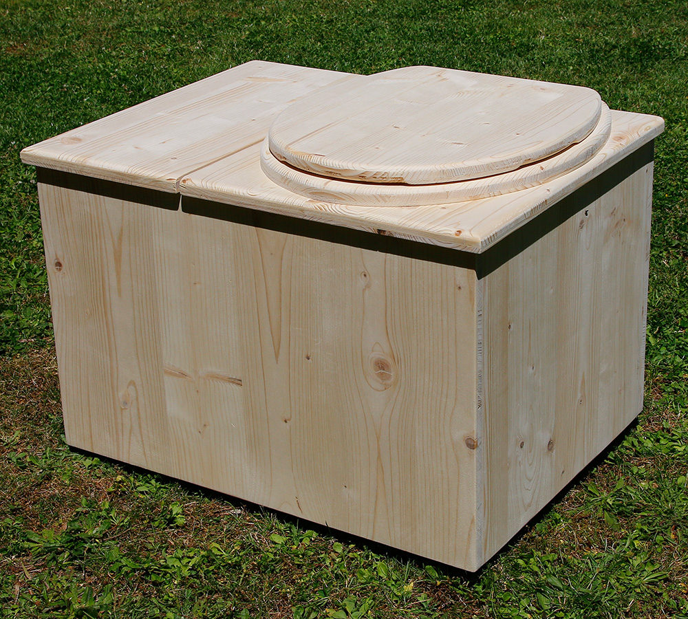 toilette sèche intérieur avec bac à copeaux de bois - toilette sèche sur mesure