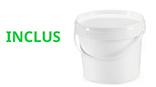 seau plastique alimentaire 20 litres inclus