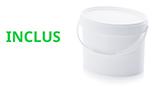 seau plastique alimentaire ovale 18 litres inclus