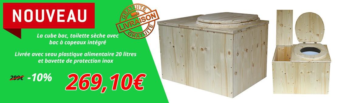 toilette sèche avec bac à copeaux de bois - Livraison Gratuite